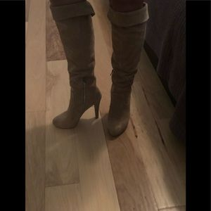 Michael Kors Nude Suede Knee High Boots